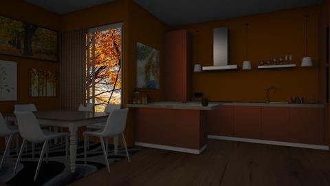 autumm kitchen - Kitchen  - by AnxhelaN