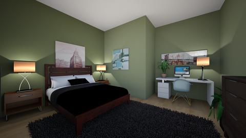 Olive Modern - Bedroom  - by Sunset_Dragon157