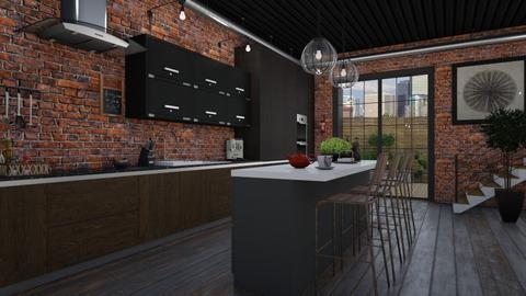Industrial - Kitchen  - by Tuija