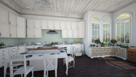 farmhouse kitchen - Classic - Kitchen  - by Ali Ruth