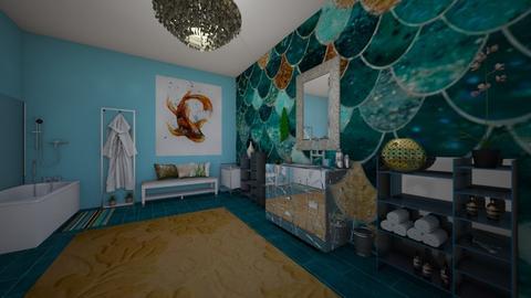 aquarium bathroom - by dwoods