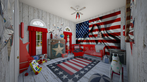 Military Brat - Classic - Kids room - by Lackew
