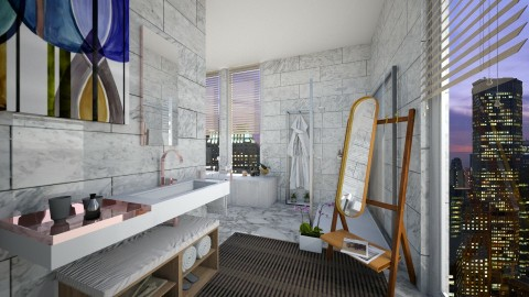 marble bathroom - by rafita