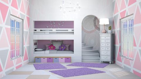 Rosado y morado - Feminine - Bedroom  - by norkis