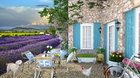 Design 113 Welcome to Provence - Garden  - by Daisy320