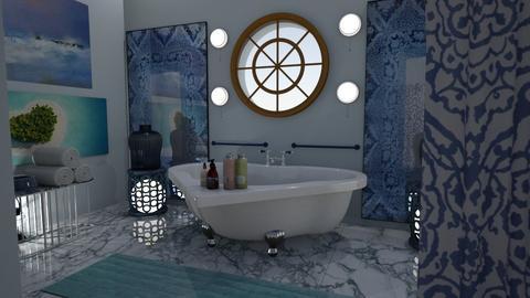navy - Bathroom  - by vassilianna