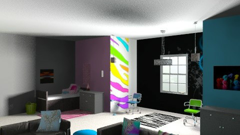 dorm for 3 - Glamour - Bedroom  - by Lizette Najera