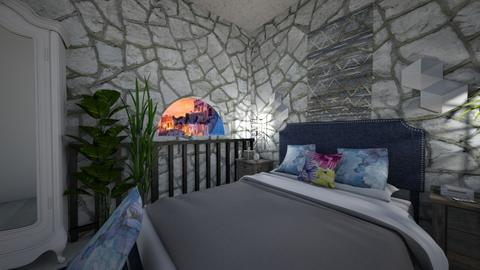 Stone Bedroom - Rustic - Bedroom  - by Irishrose58