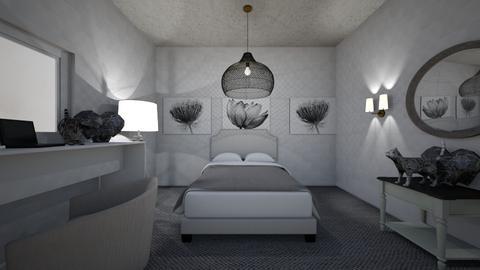 Gray Aesthetic  - Bedroom  - by Avatarrr