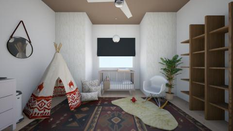 Contemporary Nursery - Kids room - by emilyyyyjohnson