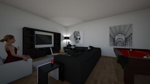 black and white - Masculine - Living room  - by ash04