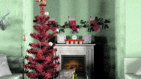 living room christmas - Glamour - Living room  - by caro5
