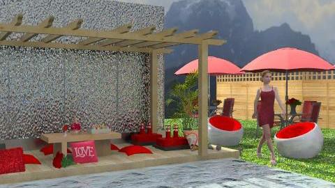 waterwall1 - Glamour - Garden  - by leendave