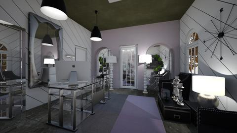 Office_Reception_Silver_B_W_P_G_Creation - Modern - Office - by Nikos Tsokos