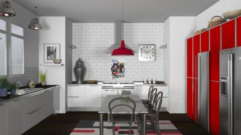 Random Spaces - Family Kitchen - Modern - Kitchen  - by LizyD