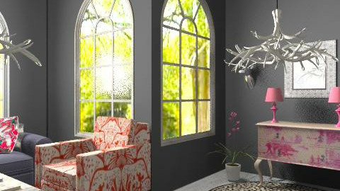 Pink Deer - Eclectic - Living room  - by hunny