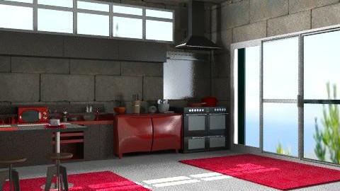 cocina de soltero - Classic - Kitchen  - by ATELOIV87