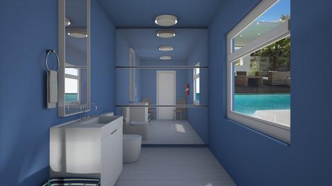Pool side Bathroom - Bathroom  - by BubbleTeaLover
