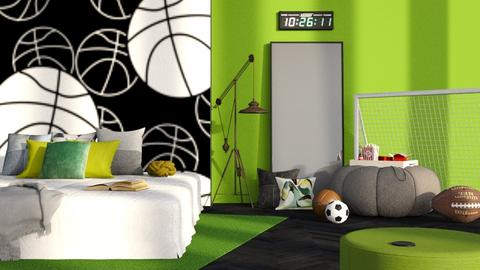 sports fan bedroom - Modern - Bedroom  - by RimaNina
