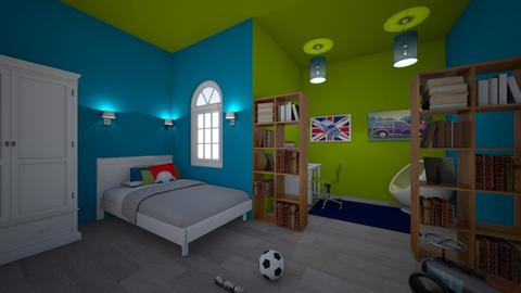 kidsbedroom boy - Bedroom - by jovhke