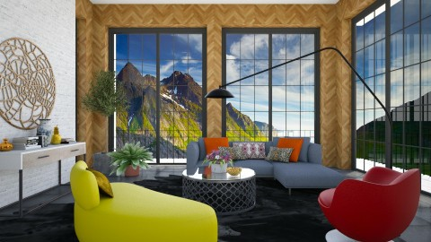 Woody Living - Glamour - Living room  - by 3rdfloor
