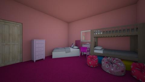 Pink room - Bedroom - by deona