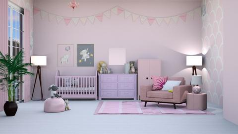 Surprise Baby Girl - Feminine - Kids room  - by Oyisha