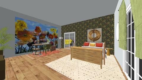 olive green  - Bedroom - by med095