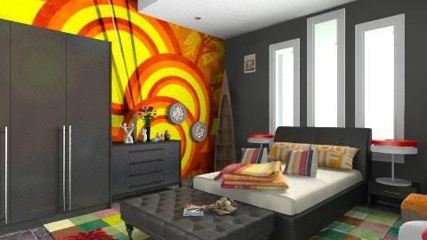 Bedroom  - Retro - Bedroom - by luqdragon
