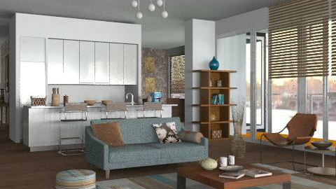 Richard Meier_c1 - Modern - Living room - by Rooooo
