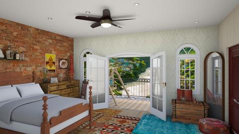 indian bedroom  - Bedroom  - by 32103sarah