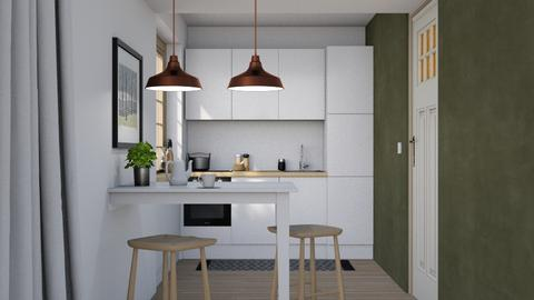 Narrow kitchen dining - Minimal - Kitchen - by HenkRetro1960