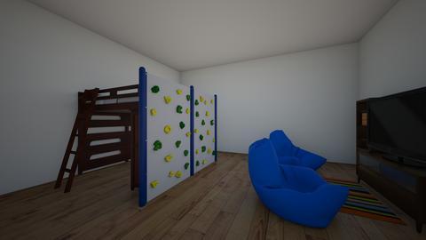 twin boy bedroom - Bedroom - by ellen_brooklyn