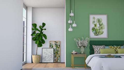 Sage green - Bedroom  - by Eldora