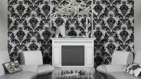White livingroom - Minimal - Living room  - by Rechoppy92