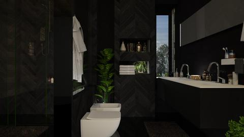 B L A C K  - Bathroom  - by Alda Neziri