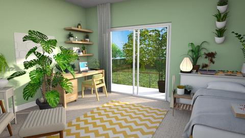 plant bedroom - Bedroom  - by abzzicles