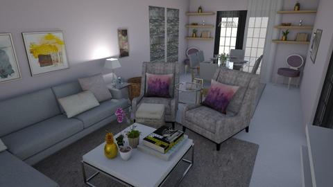 Purple Enchanted - Living room  - by lornareynals