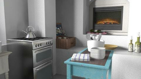 Country White Kitchen  - Country - Kitchen  - by annagunbina