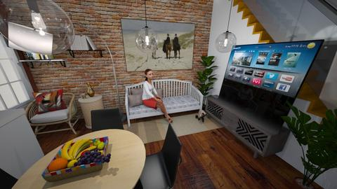 Apartment one space room - Living room  - by nonanymous_