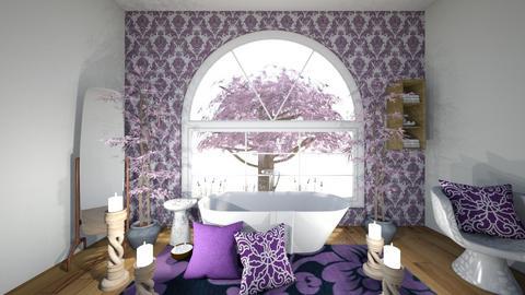 lavender bathroom - by veronicapool