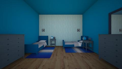 Blue Symmetry Room - Bedroom  - by ccc5231c
