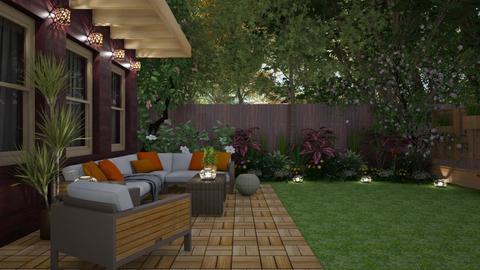 Backyard Twilight - Garden  - by GraceKathryn