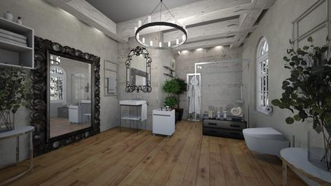 BathRoom_Concrete_Wood_ - Eclectic - Bathroom  - by Nikos Tsokos