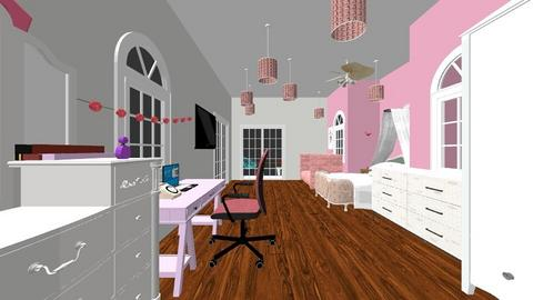 pink paridise - Glamour - Bedroom  - by tillytot