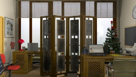 Office with Partition - Modern - Office - by Azmi_Ar