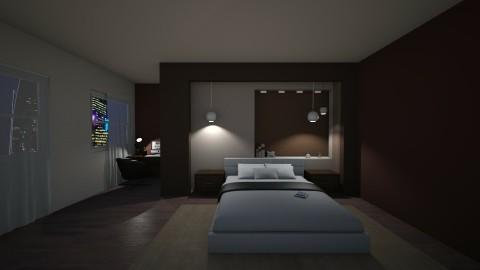 Brown nuance  - Minimal - Bedroom  - by mariateresadrago