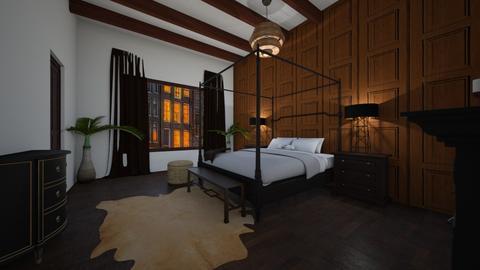 Cozy Bedroom - Rustic - Bedroom  - by lionhuntress29