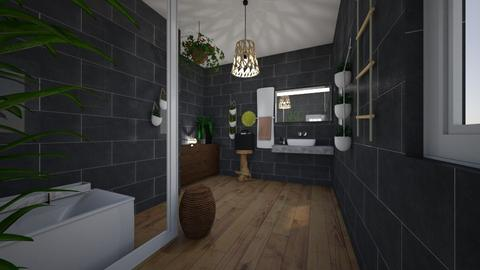 Charcoal - Retro - Bathroom - by CitrusSunrise