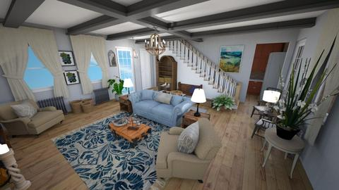 Stone Revival LivingEntry - Rustic - Living room  - by Buffy7